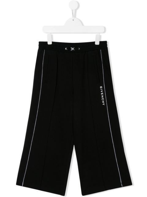 Givenchy Kids TEEN wide leg tracksuit trousers