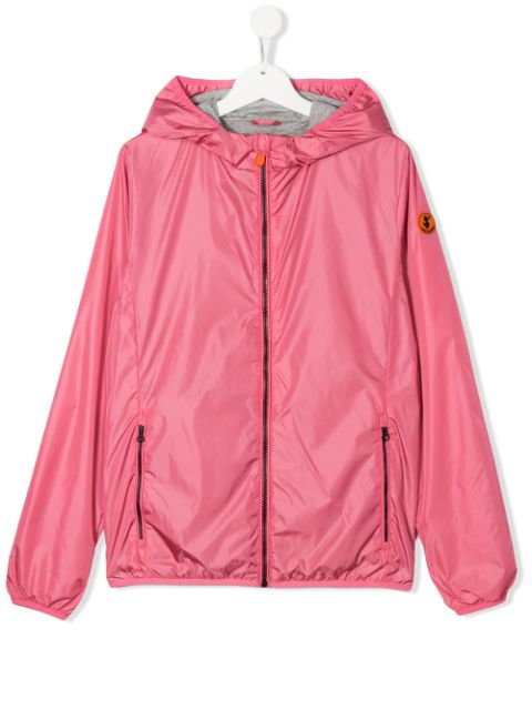 Save The Duck Kids TEEN hooded zipped jacket