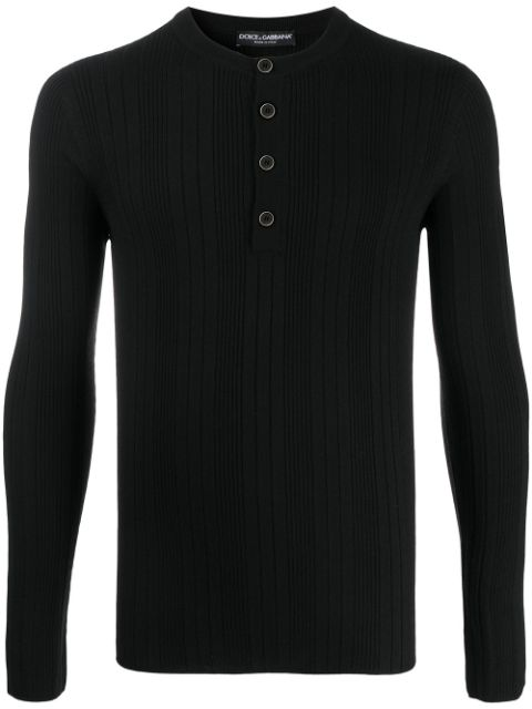 Dolce & Gabbana ribbed buttoned jumper