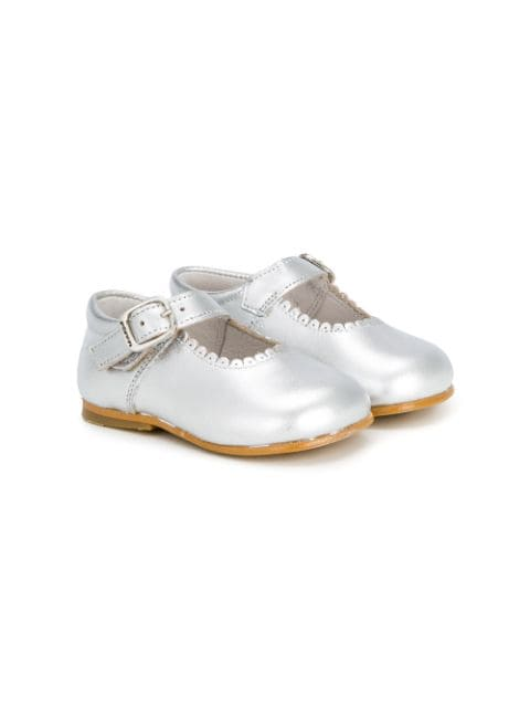Andanines Shoes scalloped detail ballerinas