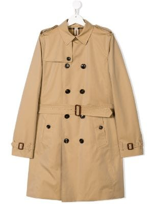 Burberry Kids TEEN double breasted trench coat
