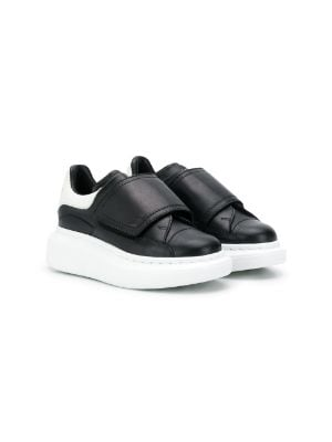 Alexander McQueen Kids touch-strap extended sole sneakers