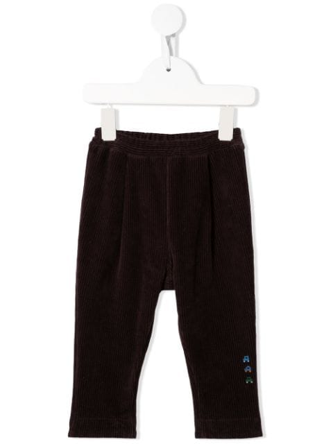 Familiar embroidered corduroy chinos