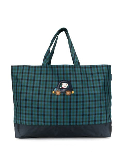 Familiar gingham checked tote bag