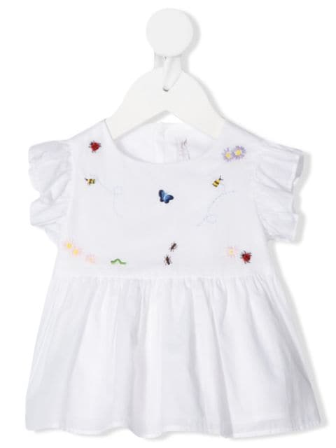Il Gufo embroidered insect top