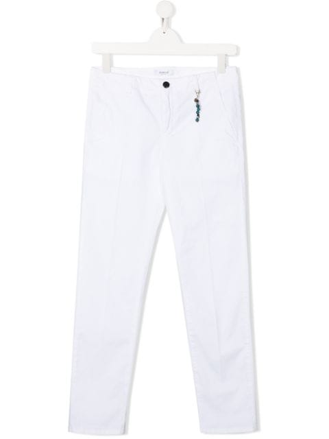 Dondup Kids TEEN pleated charm detail chinos