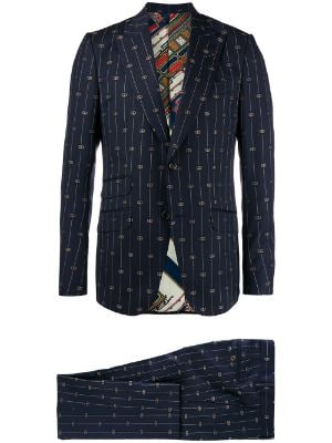 Gucci embroidered GG suit