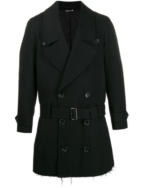 Comme Des Garçons Homme Plus boxy fit belted double-breasted coat