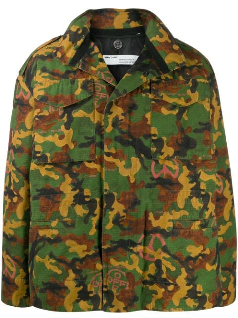 Off-White camouflage padded field jacket
