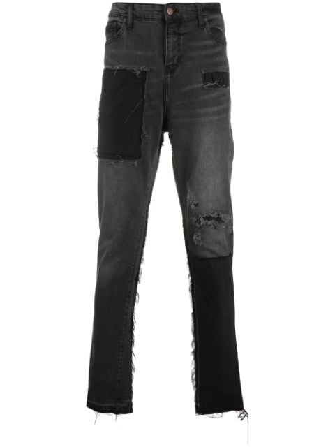 VAL KRISTOPHER frayed jeans