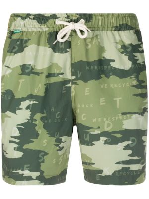 Save The Duck camouflage print swim shorts