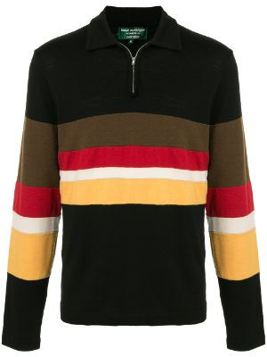 Comme Des Garçons Pre-Owned zipped neck long-sleeved polo shirt