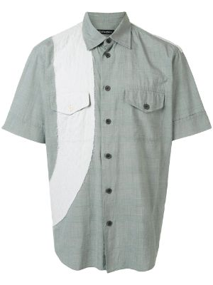 Issey Miyake Pre-Owned No. 10 patchwork shirt