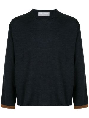 Comme Des Garçons Pre-Owned slouchy knitted wool top