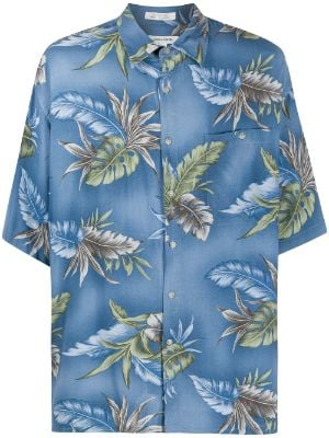 Pierre Cardin Pre-Owned 1990s leaf print shirt