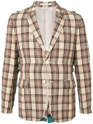 Comme Des Garçons Pre-Owned contrasting panel checked blazer