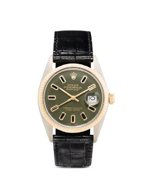 Lizzie Mandler Fine Jewelry 18K yellow gold Rolex Oyster Perpetual Datejust 37mm watch