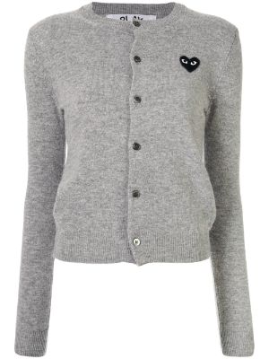 Comme Des Garçons Play logo embroidered buttoned cardigan