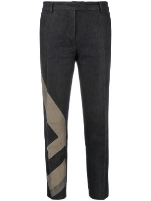 Fendi Pre-Owned faded logo cropped jeans