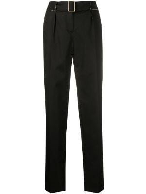 Chanel Pre-Owned tapered belted trousers