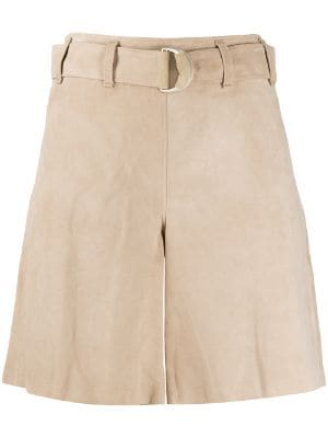 Arma high waisted belted shorts