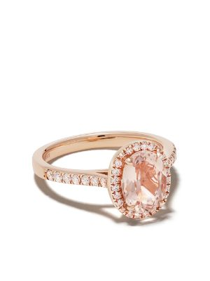 Astley Clarke 14kt rose gold Halo morganite and diamond ring