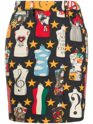 Moschino Pre-Owned 1990s moulage mannequin print skirt
