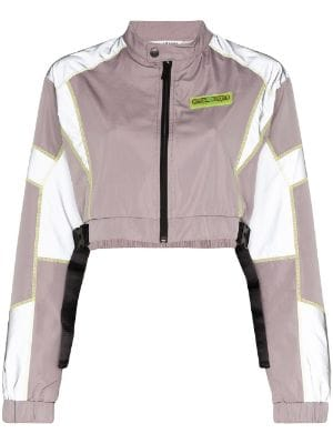 Daily Paper reflective panels track jackets