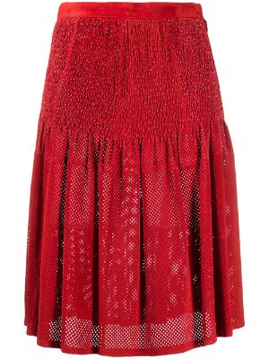 A.N.G.E.L.O. Vintage Cult 1980s perforated smocked waist skirt