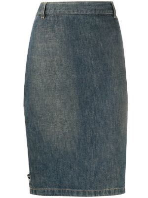Gucci Pre-Owned 1990s pencil denim skirt