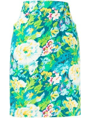 Kenzo Pre-Owned 1980s floral print skirt