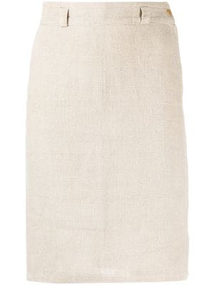Versace Pre-Owned 1980s high-waisted straight skirt