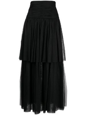 Chanel Pre-Owned 1990s ruffled pleated skirt