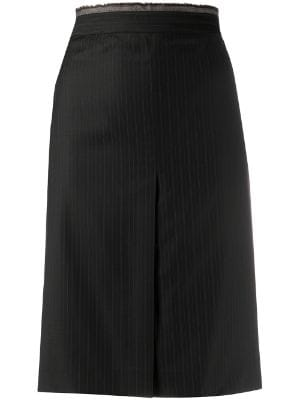 Gianfranco Ferré Pre-Owned 2000s pinstriped pencil skirt