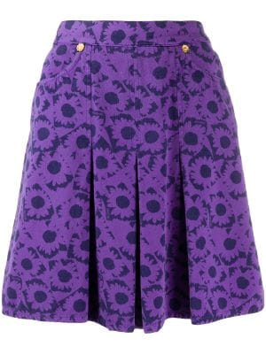 Moschino Pre-Owned 1990s daisy print skirt