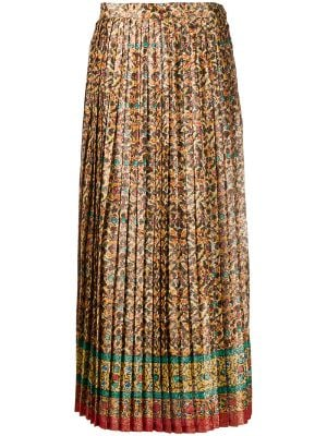 Yves Saint Laurent Pre-Owned 1970s floral print pleated skirt