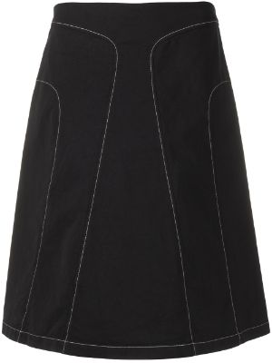 Jil Sander Pre-Owned 2000s contrast stitching A-line skirt
