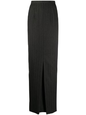 Gianfranco Ferré Pre-Owned 1990s pinstriped maxi skirt