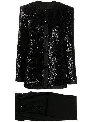 Yves Saint Laurent Pre-Owned sequin-embellished two-piece suit`