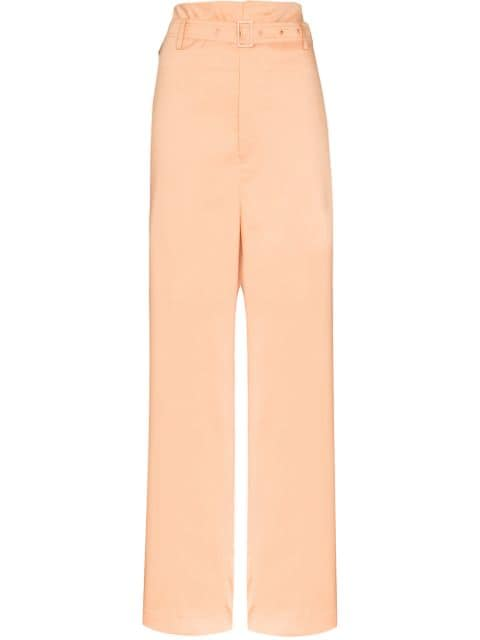 Low Classic belted paperbag trousers