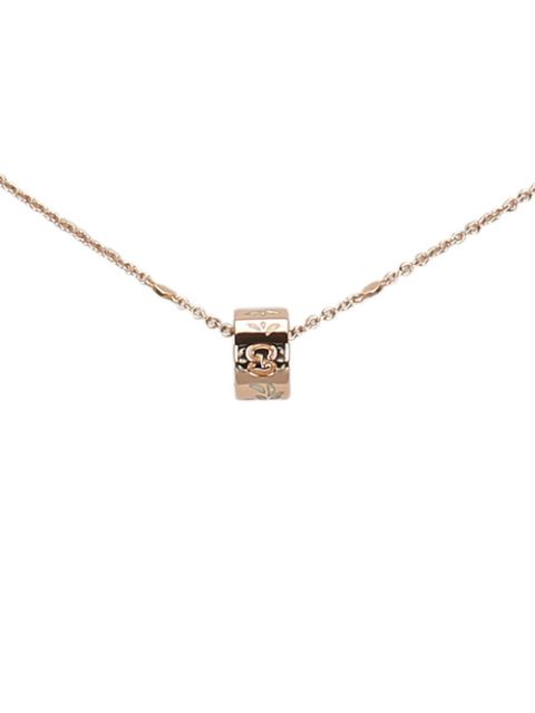 Gucci Pre-Owned logo ring necklace
