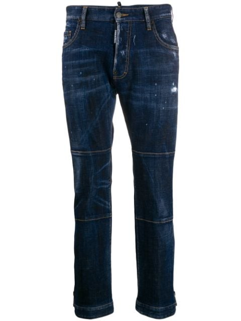 Dsquared2 panelled cropped jeans