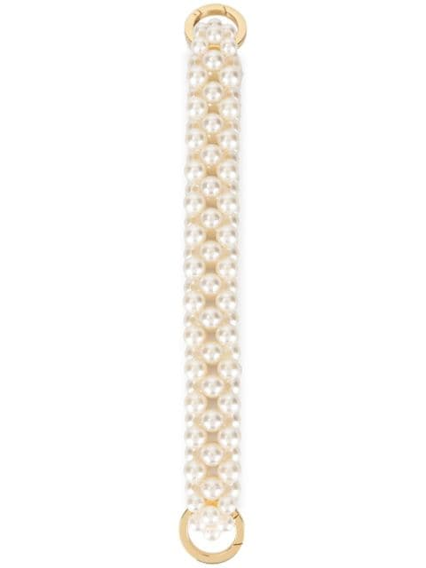 0711 small pearl-beaded handle