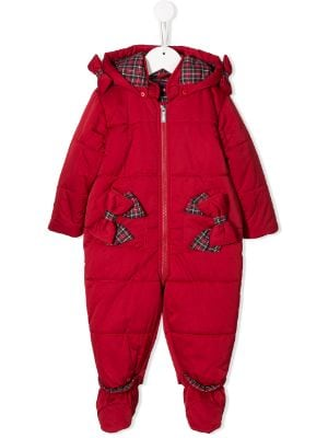 Lapin House bow embellished snowsuit