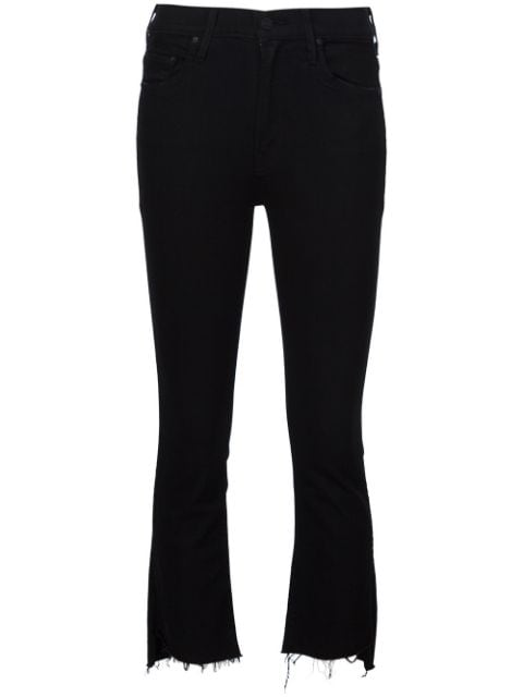 Mother Insider high-rise cropped jeans