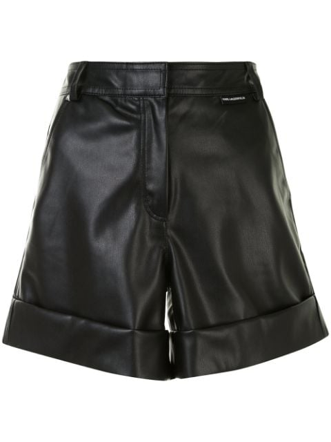 Karl Lagerfeld faux leather shorts