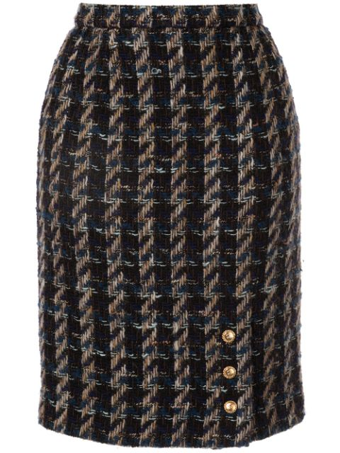 Chanel Pre-Owned tweed pencil skirt