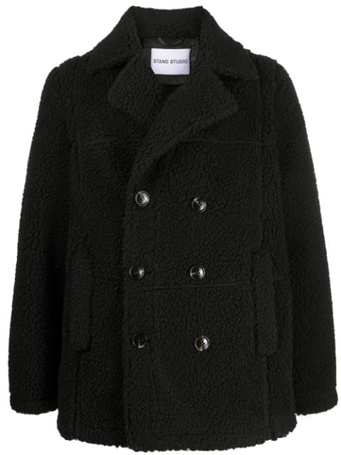 STAND STUDIO double breasted faux shearling coat