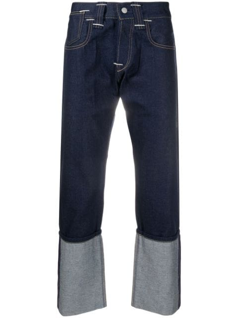 Junya Watanabe x Levis mid-rise cropped jeans