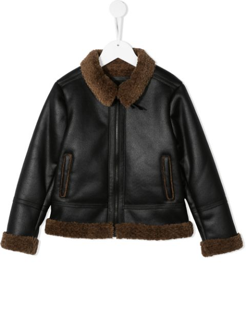 Paolo Pecora Kids faux-leather flying jacket